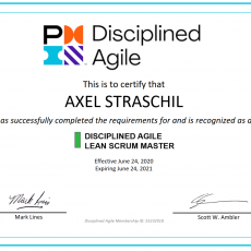 Early Bird feeling: Being the first PMI Disciplined Agile Lean Scrum Master (DALSM) in Germany, Austria and Switzerland